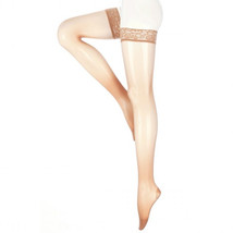 Mediven Sheer and Soft 15-20 mmHg Thigh w/ Lace Silicone Top Band CT Nat... - $60.98