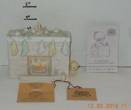 1990 Precious Moments Enesco Christmas Fireplace #524883 - $49.50