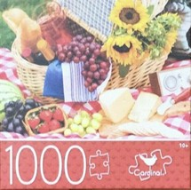 1000-PIECE FLOWERS JIGSAW PUZZLE FRUITS BASKET PICNIC TIME - SAME-DAY SHIP - $14.49