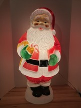 """Vintage Christmas 30"""" Lighted Blow Mold Empire Santa With Cane Yard Deco... - $108.89"""