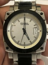 Fossil AM-4035 Analog Men's Wristwatch Stainless Steel Back, Parts/Repair. - $18.49