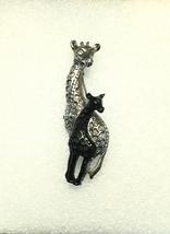 Vintage Giraffe Pin, Giraffe Pin, Mom And Baby Giraffe Pin, Vintage Pins... - $24.95