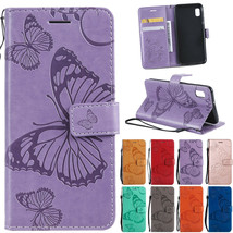 Butterfly Pattern Leather Card Wallet Case Cover For Samsung A10e/A30/A50/A20e - $55.00