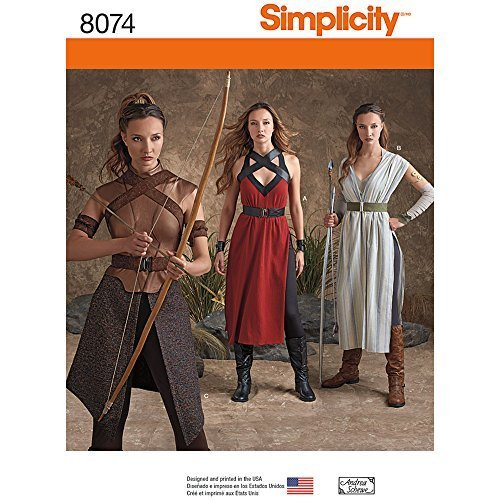 Simplicity Patterns Misses' Warrior Costumes Size: R5 (14-16-18-20-22), 8074 - $13.48