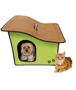 Penn Plax Portable Soft Dog House For Smaller Dogs, Green - £25.57 GBP