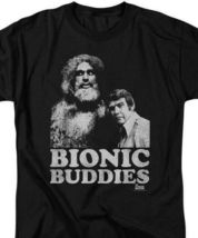 The Six Million Dollar Man Bionic Buddies Retro 70s graphic t-shirt NBC765 image 3