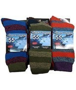 12 Pair Pack Of excell Mens Winter Thermal Socks, Hiking Socks - $27.83+