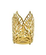 Leaf Shaped Gold Black Tealight Modern Style Metal Candle Holder Home Of... - $8.99