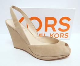 New MICHAEL KORS Size 10 Beige Suede Wedge Slin... - $74.00