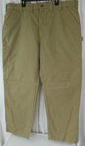 Carhartt B151 DKH Pants Canvas Work Carpenter Dungaree Dark Khaki Mens 4... - $39.59