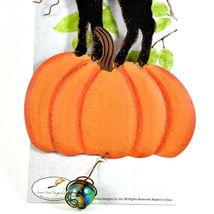 Creepy Treats Here Black Cat & Pumpkin Halloween Bouncy Garden Hanging Sign image 3