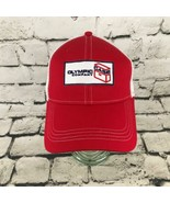 Olympic Company Case Mens OSFA Hat Red White Adjustable Meshback Ball Cap - $13.85