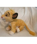 "Disney Store Authentic Patch Lion King SIMBA Plush Doll Stuffed Animal 14"" - $15.83"