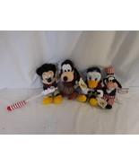 Disney Bean Bag Plush 4th of July Fife Drum Corp Micky Donald Goofy rare... - $54.01