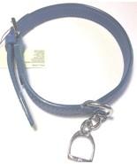 Ralph Lauren Blue Leather Dog Collar Purple Label One Size - $152.12