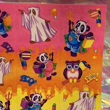 VINTAGE LISA FRANK Halloween Bears Mint Condition Complete Sticker Sheet S256 image 3
