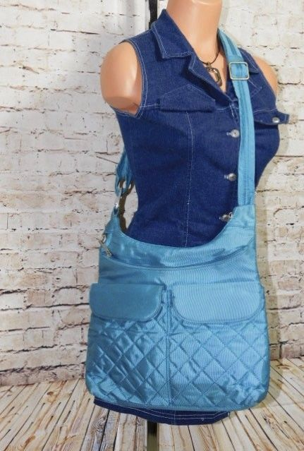 Travelon Anti-Theft Quilted Pocket Crossbody - Turquoise