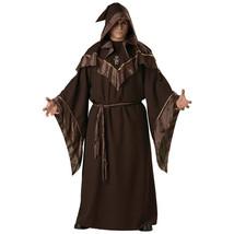Halloween Robe Monk Wizard Priest Cosplay Dark Sorcerer Outfit Men Adult... - $79.99