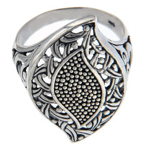 925 Sterling Silver Bali Studded Die Cut Cluster Ring Size 9 » R17 - $24.99