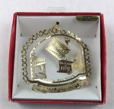 Nations Treasures Kent Roosevelt HS 1970 Reunion Brass Metal Ornament Souvenir - $15.00