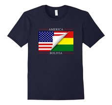 Bolivian American Flag T-Shirt Great Gift Tee Men - $17.95+