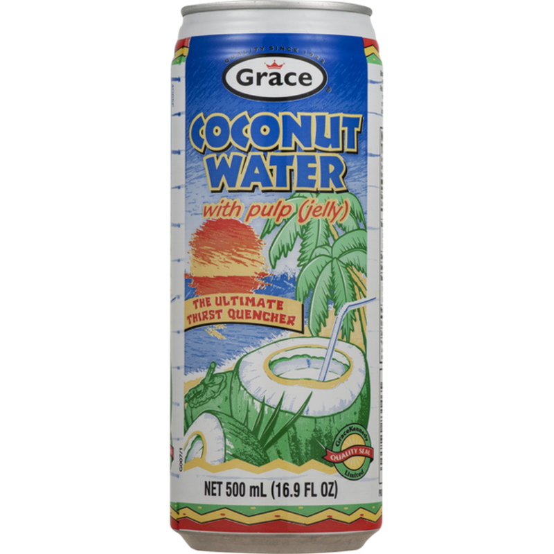 Grace Coconut Water with real coconut pieces (1 can only) 16.9fl.oz - $1.99