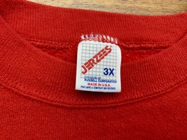 Jerzees Lightweight Sweatshirt Sz 3X Red Made In USA LN Condition - $26.59