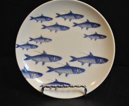 "Caskata School of Fish Blue 6 1/4"" Canape Plate - $13.09"