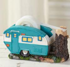 Travel Themed Tape Dispenser Office Desk Nostalgic Camper Trailer Retro ... - $16.71