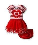 Bonnie Jean Little Girls Stripe Heart Tutu Valentine Day Dress (24 Month... - $25.58