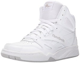 Reebok Men's ROYAL BB4500H XW Fashion Sneaker, White/Steel, 10.5 4E US - $67.99