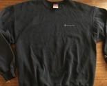 Vintage Champion Spellout Script Sweatshirt Size XL Crewneck Spell Out Black
