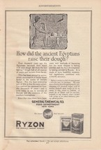 1920 Ryzon Perfect Baking Powder Ad: How Did Ancient Egyptians Raise The... - $7.87