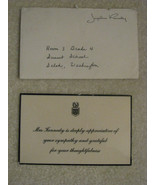 Jacqueline Kennedy Thank You For Your Sympathy Card & Envelope - $75.00