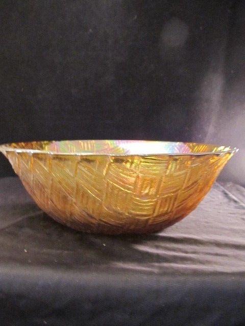 Basket Making Supplies Indiana : Weavetec quot serving bowl marigold amber iridescent basket
