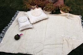 Chenille  Handloom Chic Blanket, Sofa Throw, Cotton Handmade Throw Blank... - €53,47 EUR