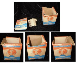 1964 New York World's Fair Unisphere Bank Flat EMPTY BOX - $16.99