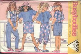BUTTERICK PATTERN 4589 SIZES 7-8-10  GIRLS'TOP, VEST, SKIRT & PANTS - $3.90