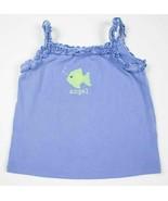 GYMBOREE GIRLS SIZE 3T TOP MERMAID MAGIC BLUE ANGEL FISH SHIRT SPRING SU... - $9.89
