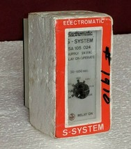 Electromatic S-System SA 105 024 Delay On Operate 30-600 Second Time Rel... - $173.75