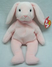 "Ty Beanie Babies Light Pink Hoppity Bunny Rabbit 8"" Stuffed Animal Toy New - $15.35"