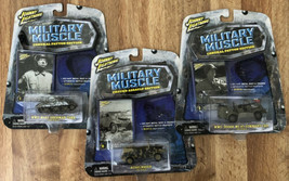 Lot Of 3 Johnny Lightning Military Muscle Wwii Kubelwagen, M4A3 Tank & WC-57 Car - $37.74