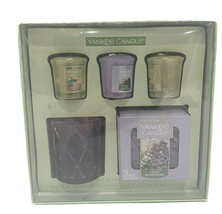 Yankee Candle Lilac Blossoms Sage Citrus Votive Floral Tea Light Holder ... - $34.99