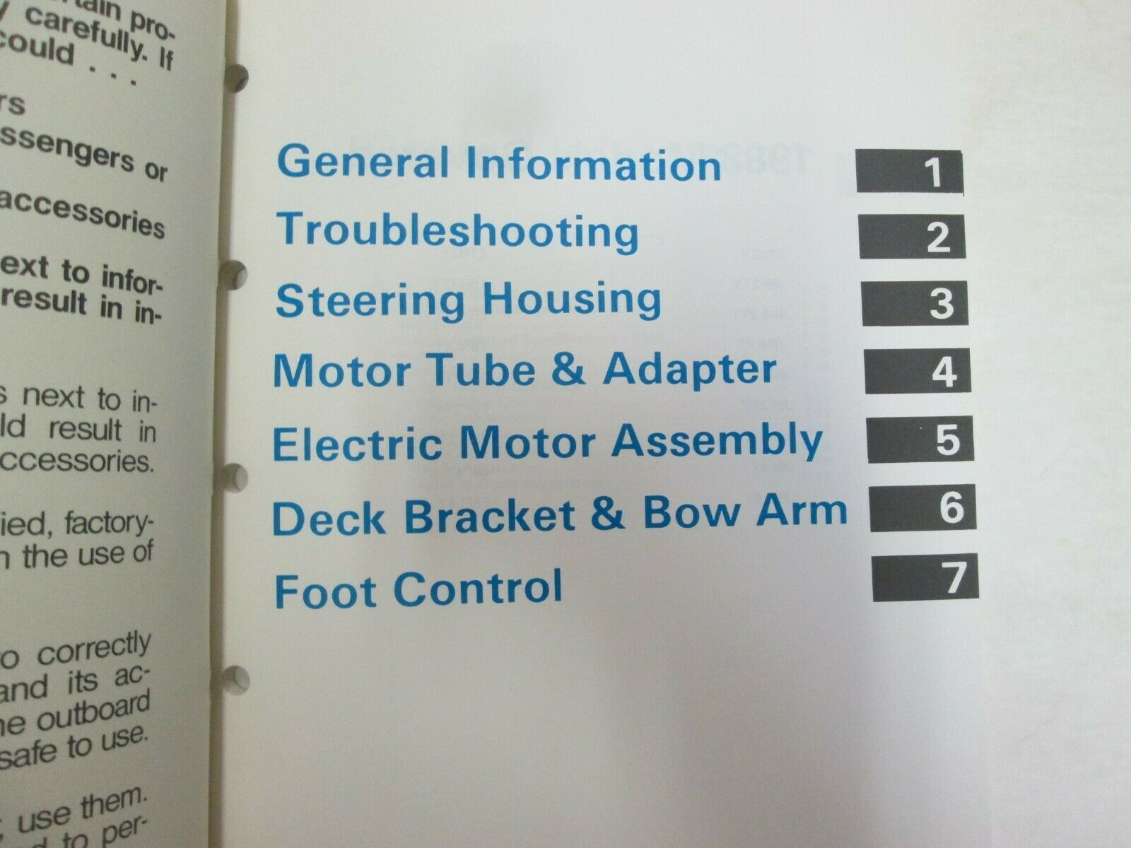 1988 Johnson Evinrude Electric Outboard Service Manual OEM Boat 507658 *** image 3