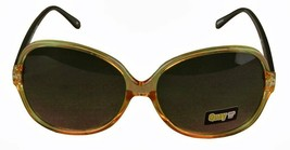 Quay 1495 Clear Chocolate Brown Shades 100% UV Protection Round Dark Sunglasses