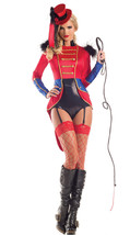 Sexy Party King Circus Lion Tamer Sequin Long Sleeve Bodysuit Costume PK292 - $54.99
