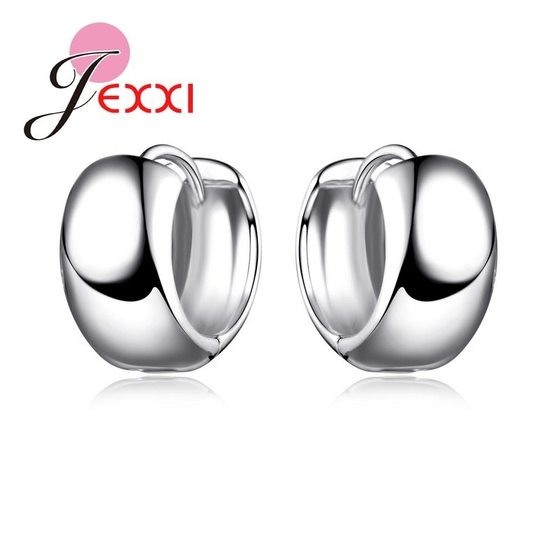 Primary image for Top Quality Wide Hoop Earrings Accessories 925 Sterling Silver  Women Wedding En