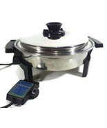 West Bend Liquid Core Stainless Steel Electric Skillet Cat.17884 Serial ... - $89.95