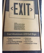 Hubbell Exit Sign Cast Aluminum LED Duallite SESRBNE SEDRW White or Blac... - $35.00+