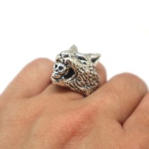 Werewolf Biting Skull Ring - $250.00